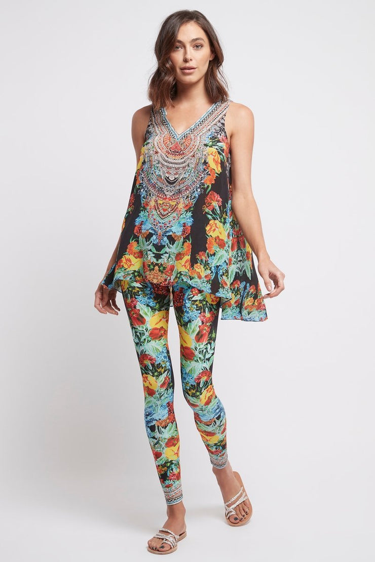 CUBAN NIGHTS LEGGINGS - Czarina