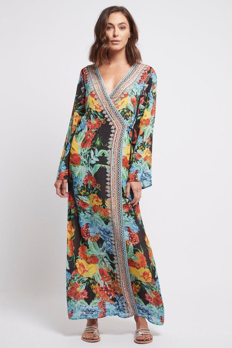 CUBAN NIGHTS WRAP DRESS - Czarina
