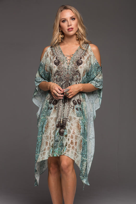 SANS L'OR SHORT KAFTAN W SLIT