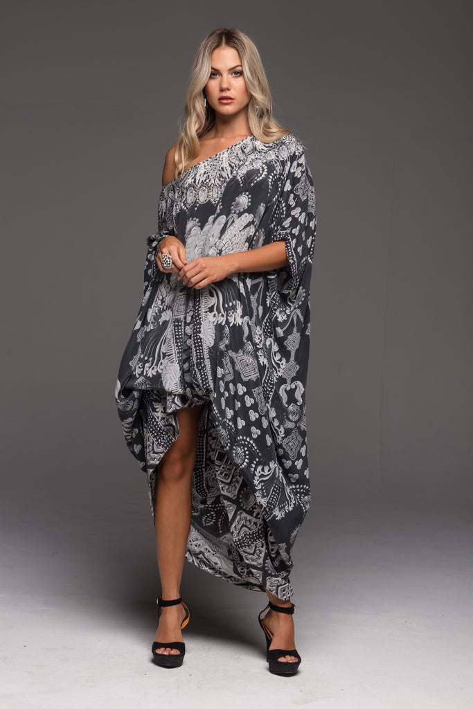 CLEOPATRA ROUND-NECK LONG KAFTAN