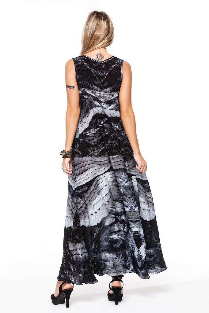LA PLUMA SLEEVELESS DRESS