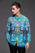 DANCING PEACOCK MENS SILK SHIRT