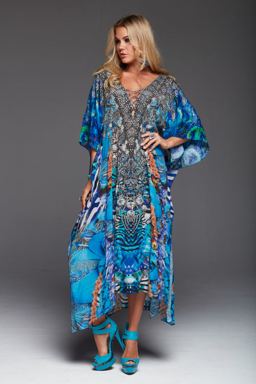 INDECENT BLUE MEDIUM KAFTAN