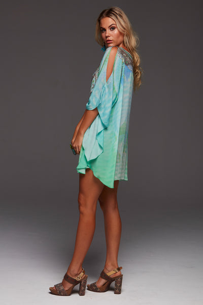 BY THE OCEAN BUTTERFLY TOP W SLIT