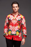 BE MINE MENS SILK SHIRT