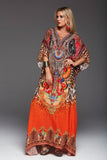SUNSET IN SAVANNAH LONG KAFTAN WITH SLIT