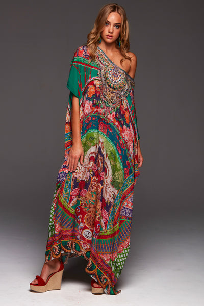 IT WAS A DREAM ROUND-NECK LONG KAFTAN