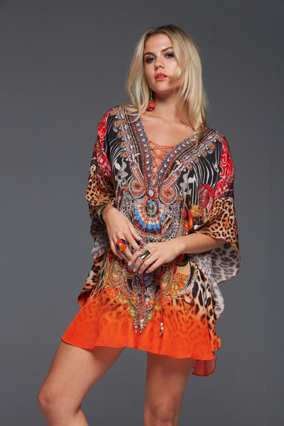 SUNSET IN SAVANNAH BUTTERFLY TOP