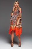 SUNSET IN SAVANNAH SHORT KAFTAN WITH SLIT