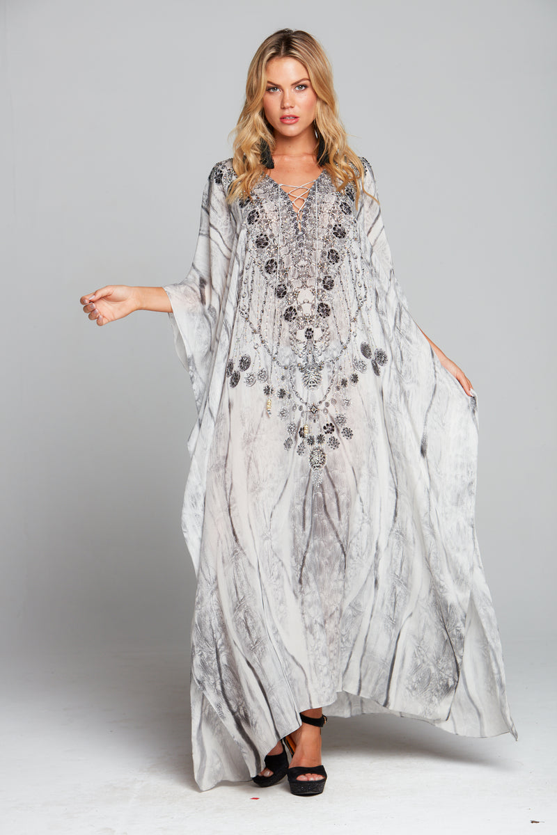 POISONOUS LOVE LONG KAFTAN W SLIT