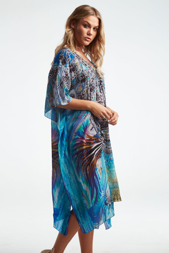 DANCING PEACOCK SHORT KAFTANS