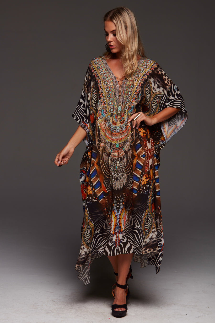 WILD LEOPARD MEDIUM KAFTAN