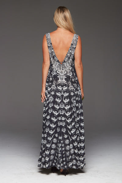 TAKE ME THROUGH THE NIGHT MAXI DRESS