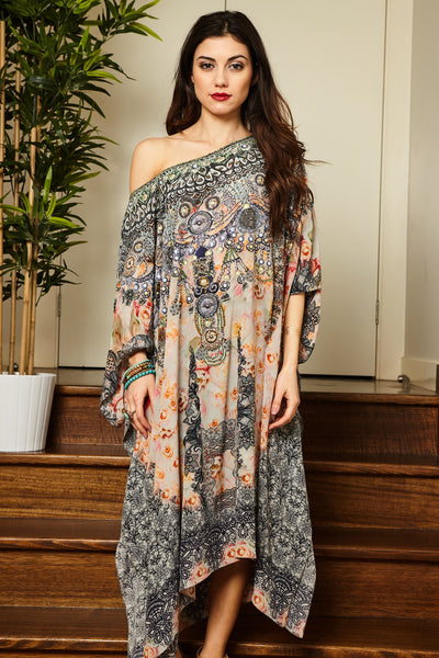 GARDEN OF SENSES SHORT KAFTAN