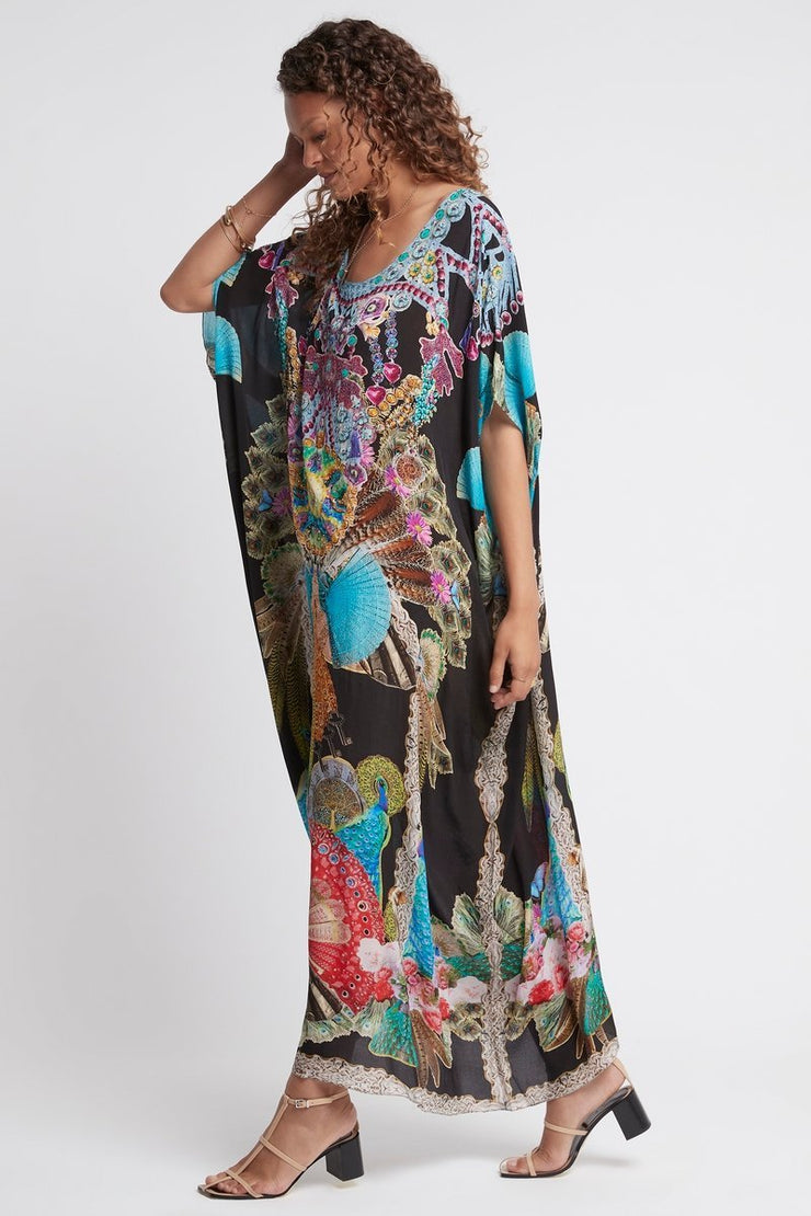 DANCING QUEEN ROUND-NECK LONG KAFTAN - Czarina