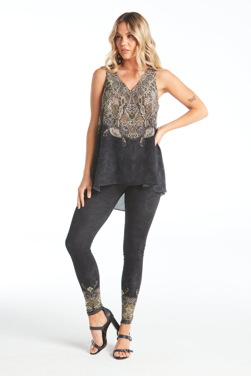 DARK CHEROKEE V-NECK TANK TOP - Czarina