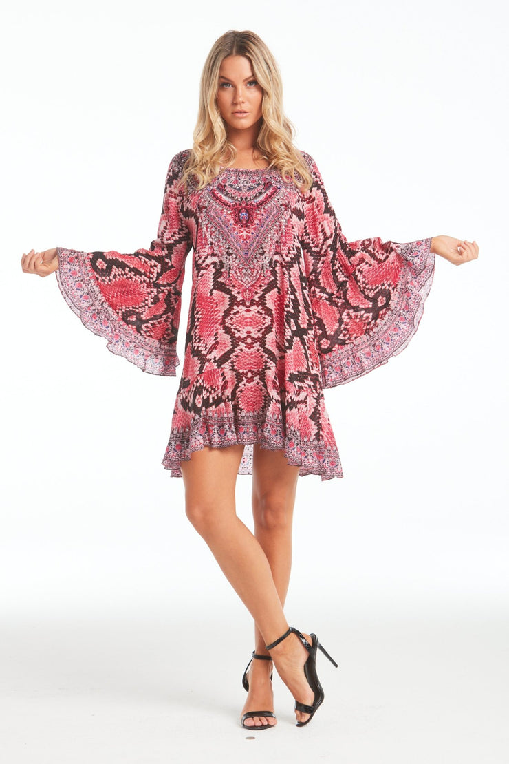 DESERT ROSE FRILL DRESS - Czarina