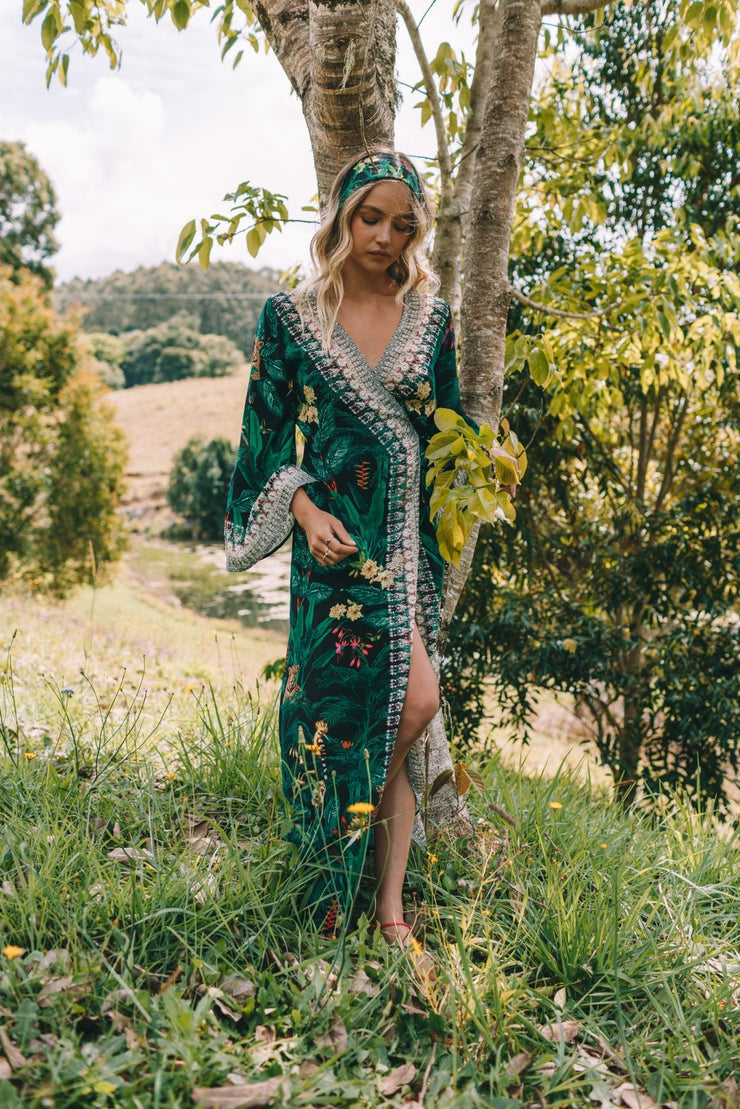 EMERALD QUEEN - WRAP DRESS - Czarina