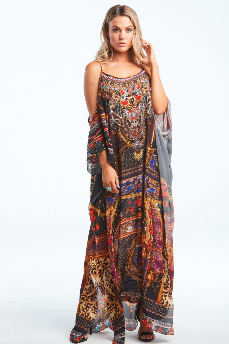 EMPOWER YOURSELF COLD-SHOULDER LONG KAFTAN - Czarina