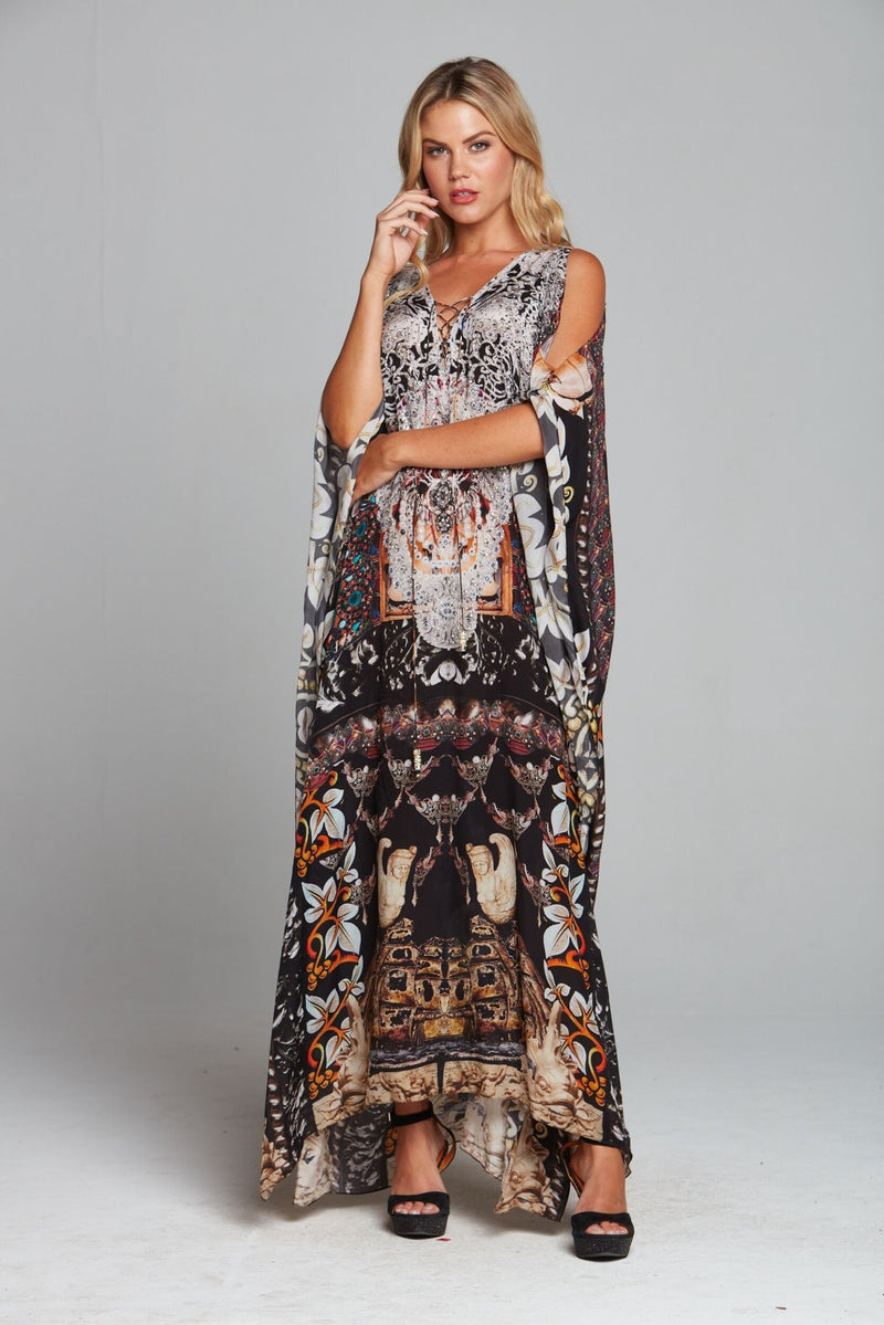 ENCHANTED LONG KAFTAN W SLIT - Czarina