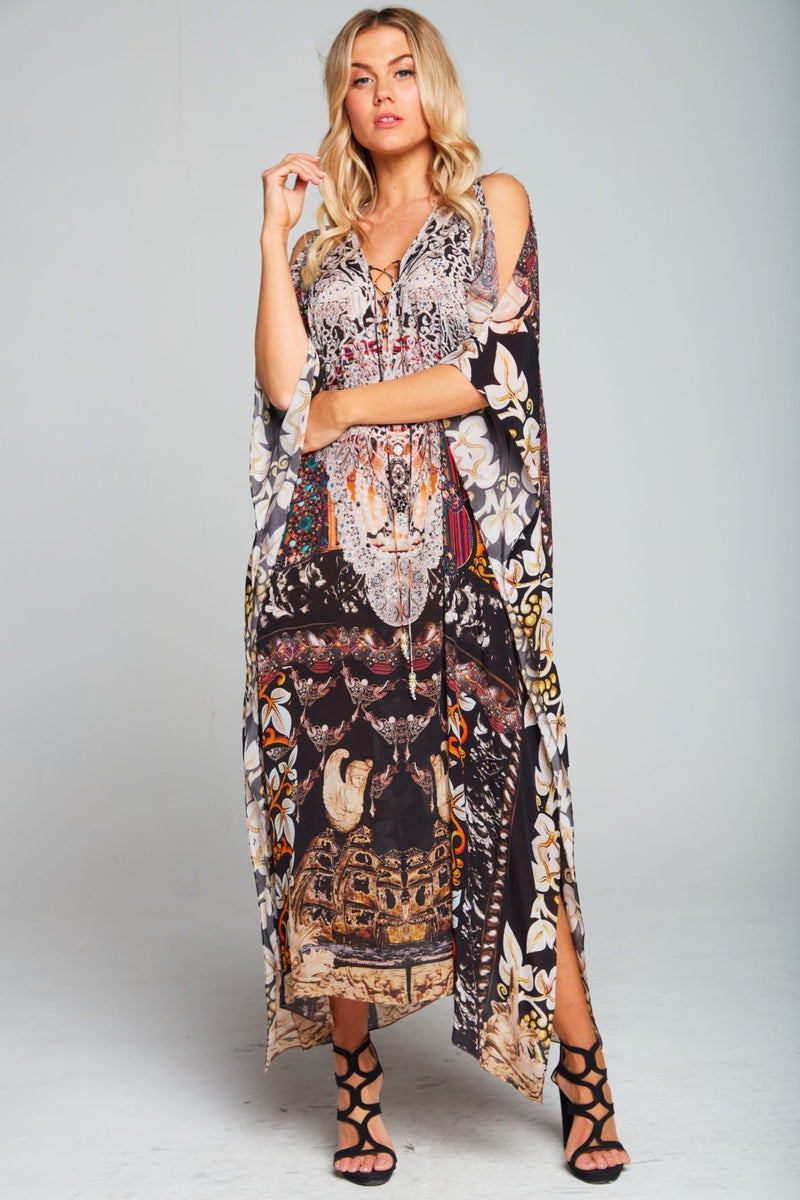 ENCHANTED MEDIUM KAFTAN W SLIT - Czarina