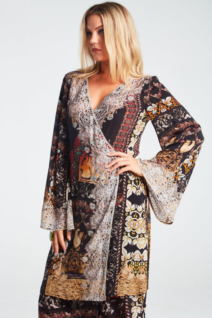 ENCHANTED SHORT WRAP DRESS - Czarina