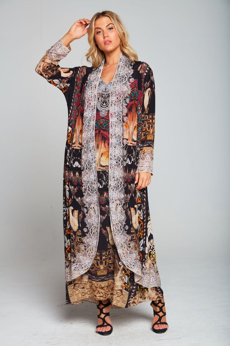 ENCHANTED SILK LONG JACKET - Czarina