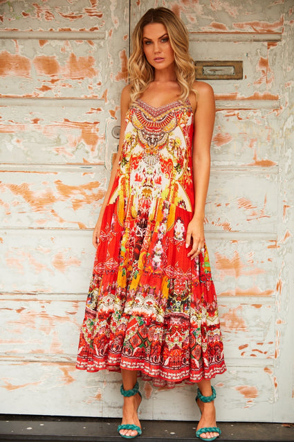 ENDLESS STORIES MIDI BOHO DRESS - Czarina