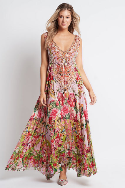 Every Flower Blossoms Maxi Dress - Czarina