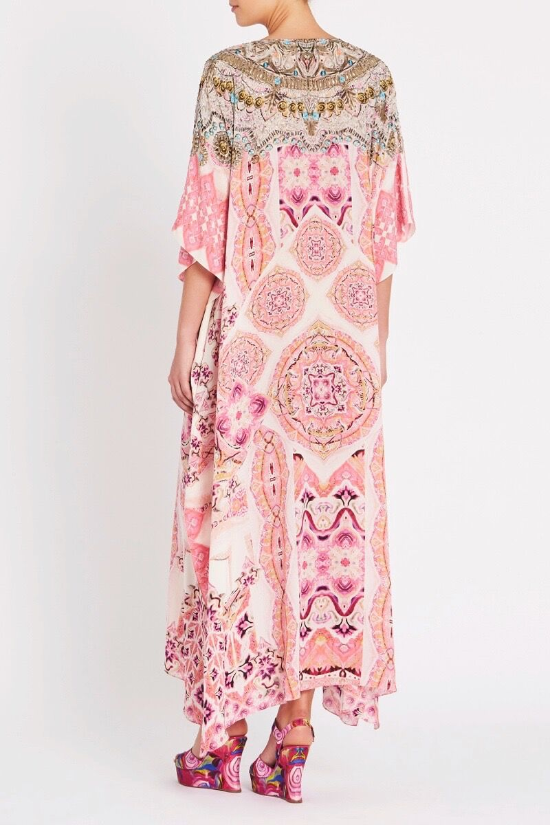 BOHEMIAN BLUSH LONG KAFTAN