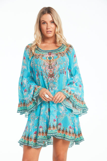FEEL THE SKY FRILL DRESS - Czarina