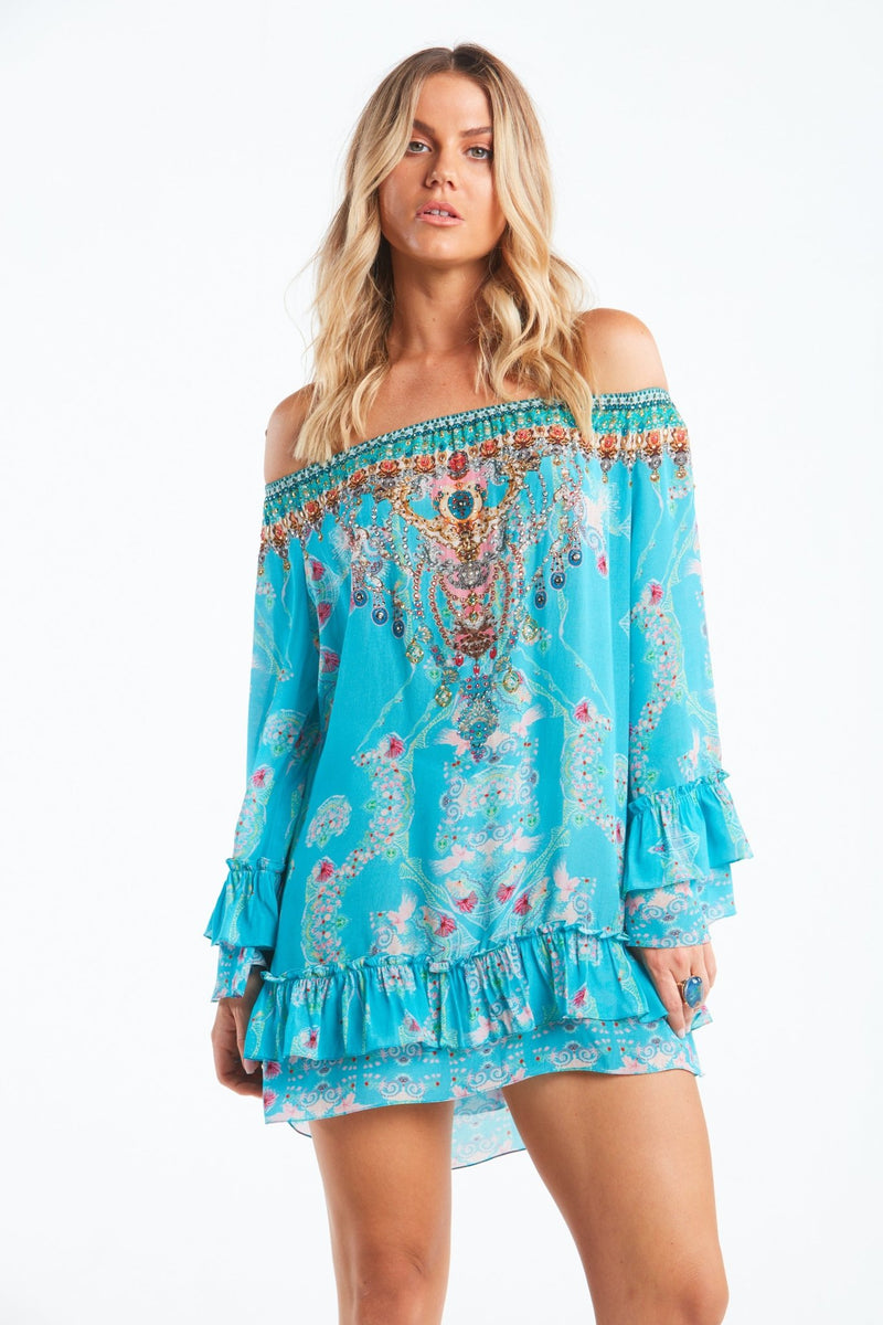 FEEL THE SKY OFF SHOULDER TOP - Czarina