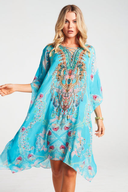 Feel The Sky Short Kaftan - Czarina