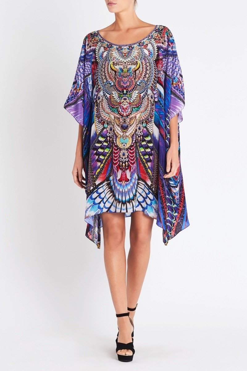 FLY WITHOUT FEATHERS ROUND-NECK SHORT KAFTAN - Czarina