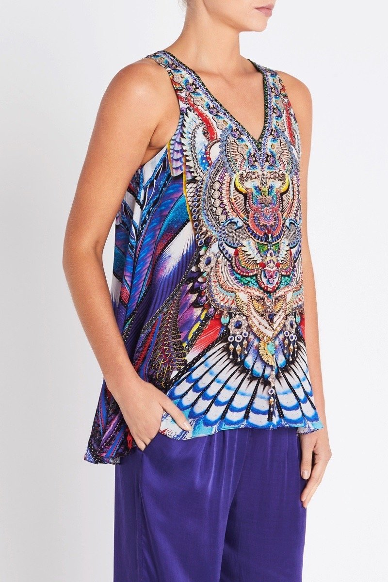 FLY WITHOUT FEATHERS V-NECK TANK TOP - Czarina