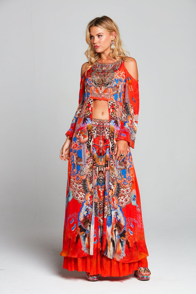 FORBIDDEN TEMPLE MAXI JACKET - Czarina
