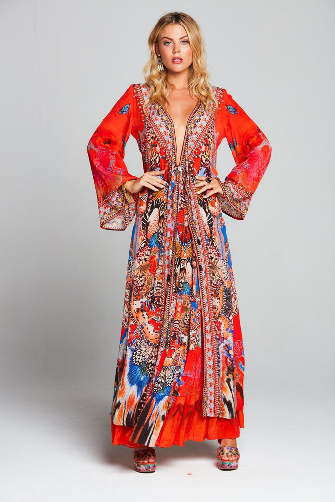 FORBIDDEN TEMPLE WRAP DRESS - Czarina