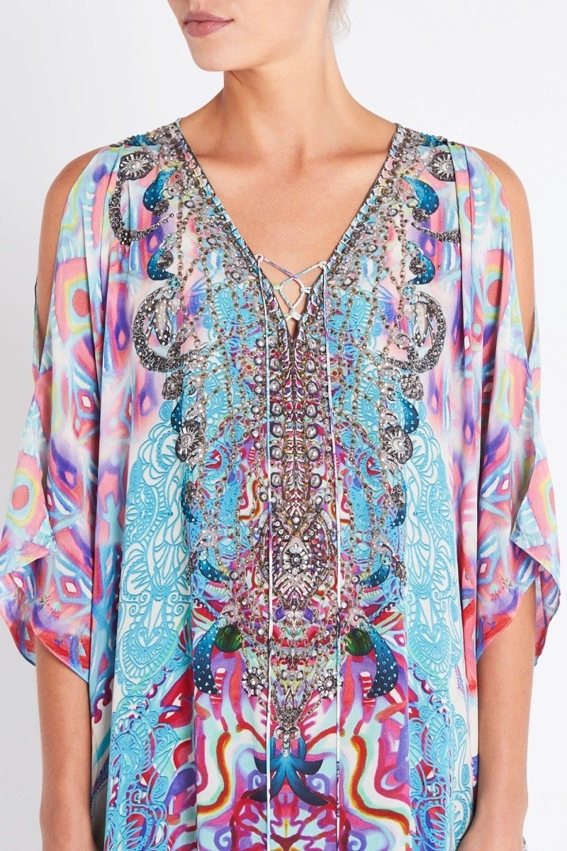 FREE AS A BIRD LONG KAFTAN W SLIT - Czarina
