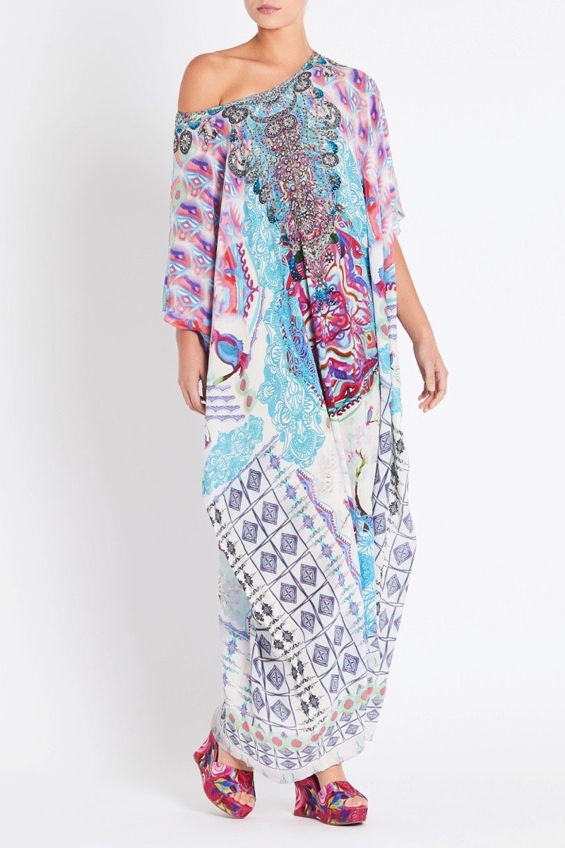 FREE AS A BIRD ROUND-NECK LONG KAFTAN - Czarina