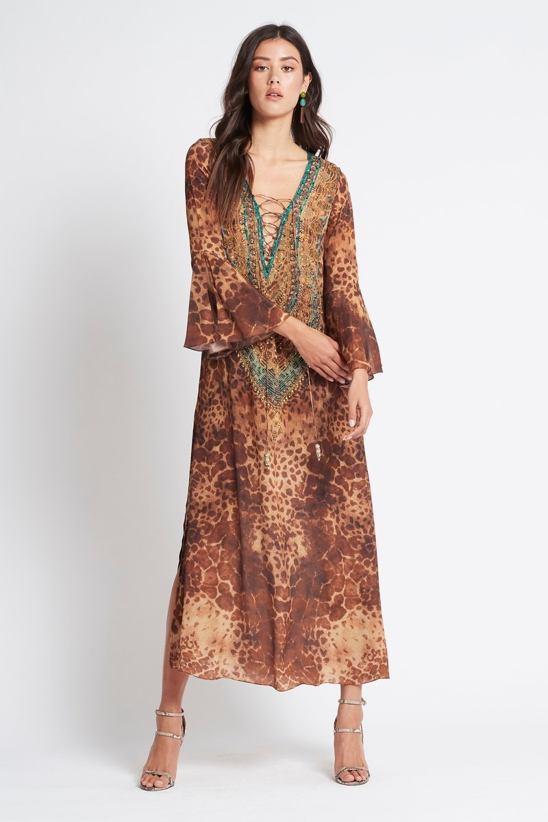 GAIA MAXI DRESS W SLEEVES - Czarina