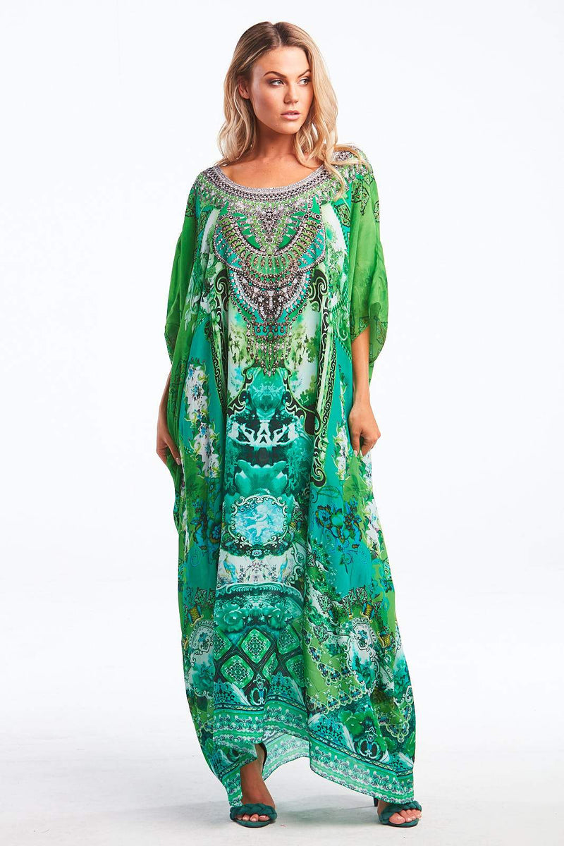 IT WAS ALWAYS YOU ROUND-NECK LONG KAFTAN - Czarina