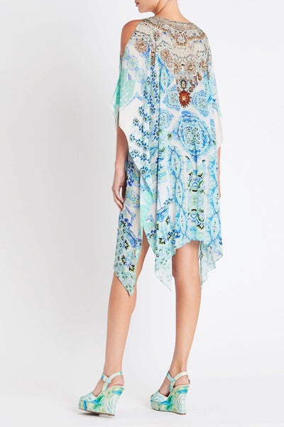 SHE'S A WILD FLOWER SHORT KAFTAN WITH SLIT