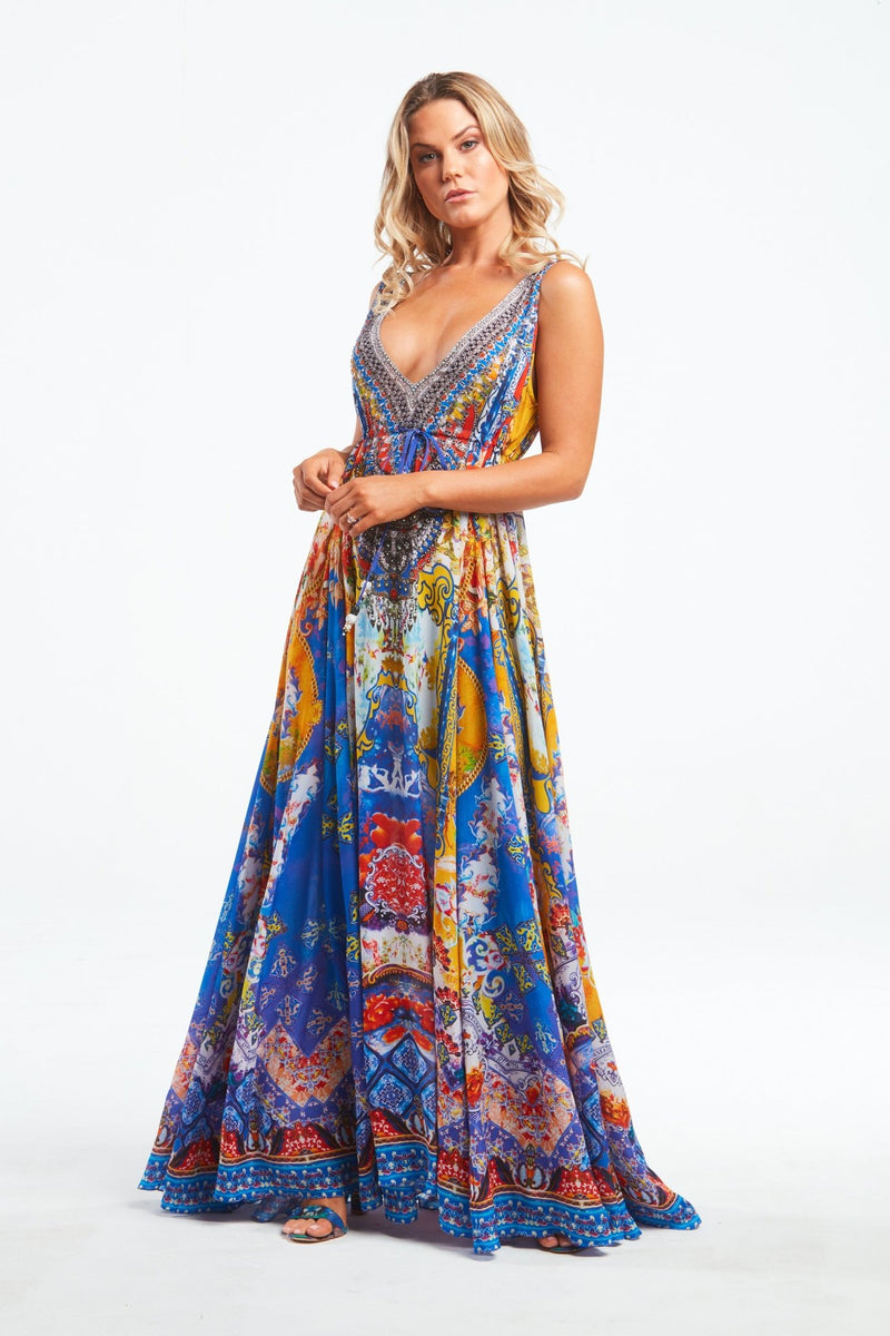 LIVE IN THE MOMENT MAXI DRESS - Czarina
