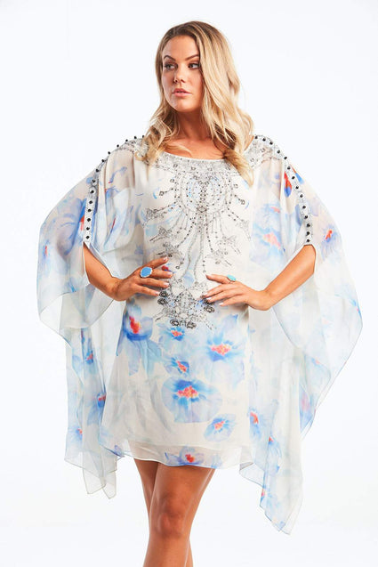 LIVE WITH HOPE BOAT NECK SHORT KAFTAN - Czarina