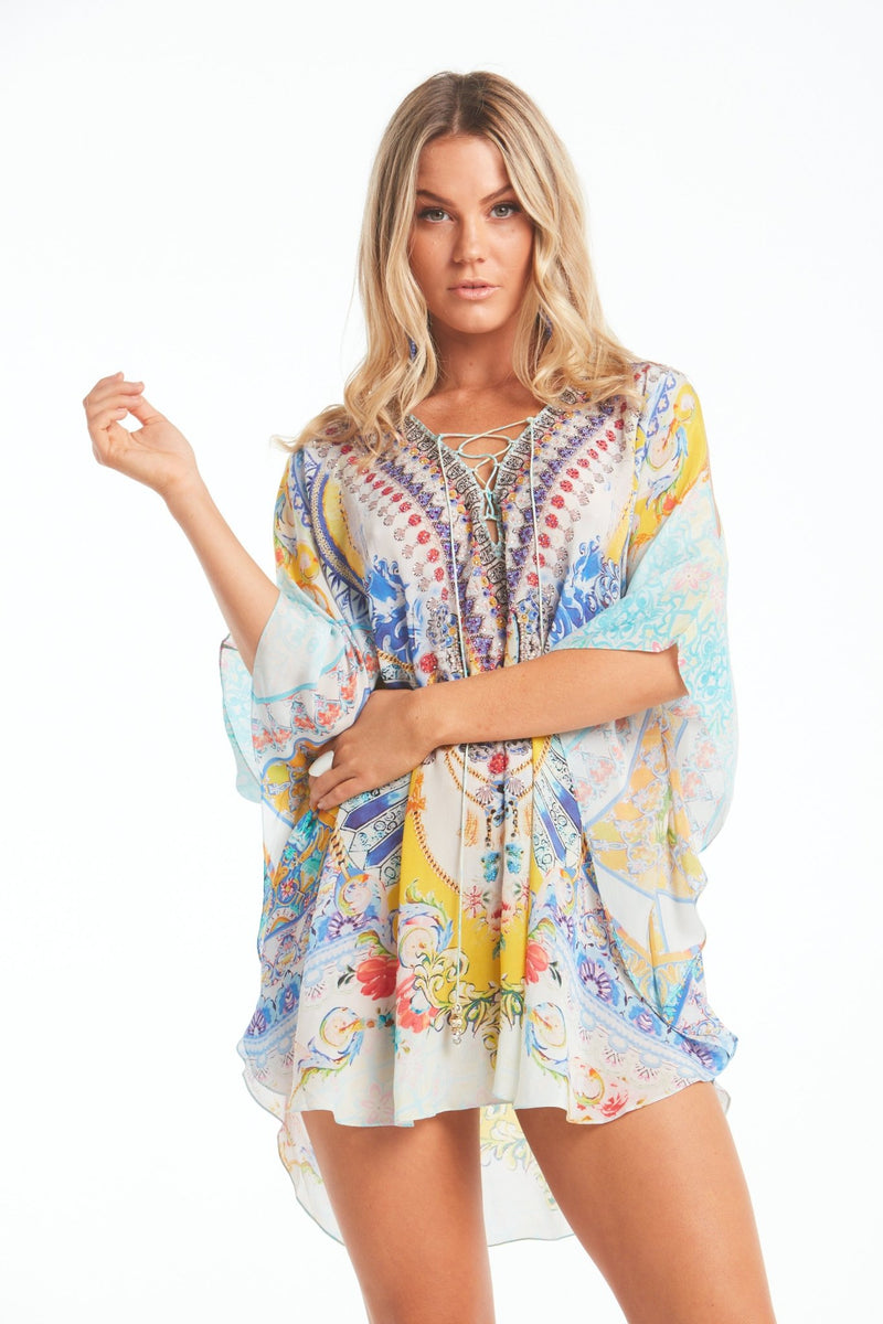 LOVE IN SANTORINI BUTTERFLY TOP W SLIT - Czarina