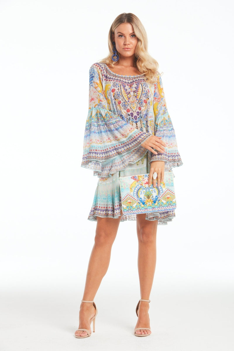 LOVE IN SANTORINI FRILL DRESS - Czarina