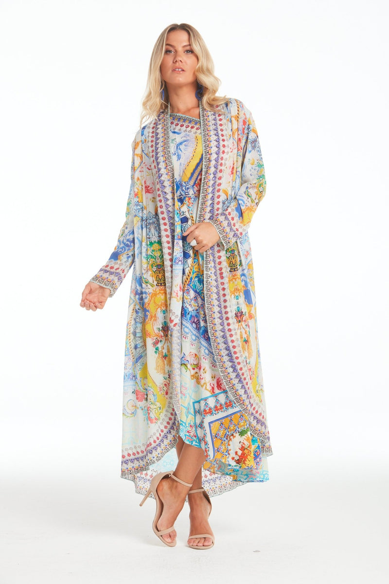 LOVE IN SANTORINI LONG JACKET - Czarina