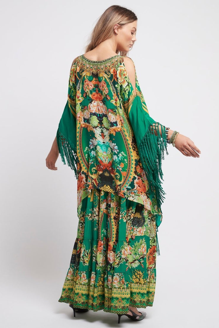 Make It Happen Kaftan Top W Fringe - Czarina