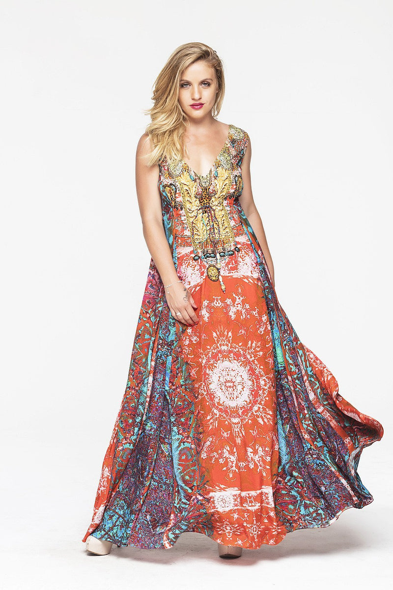 MANDALA MAXI DRESS - Czarina