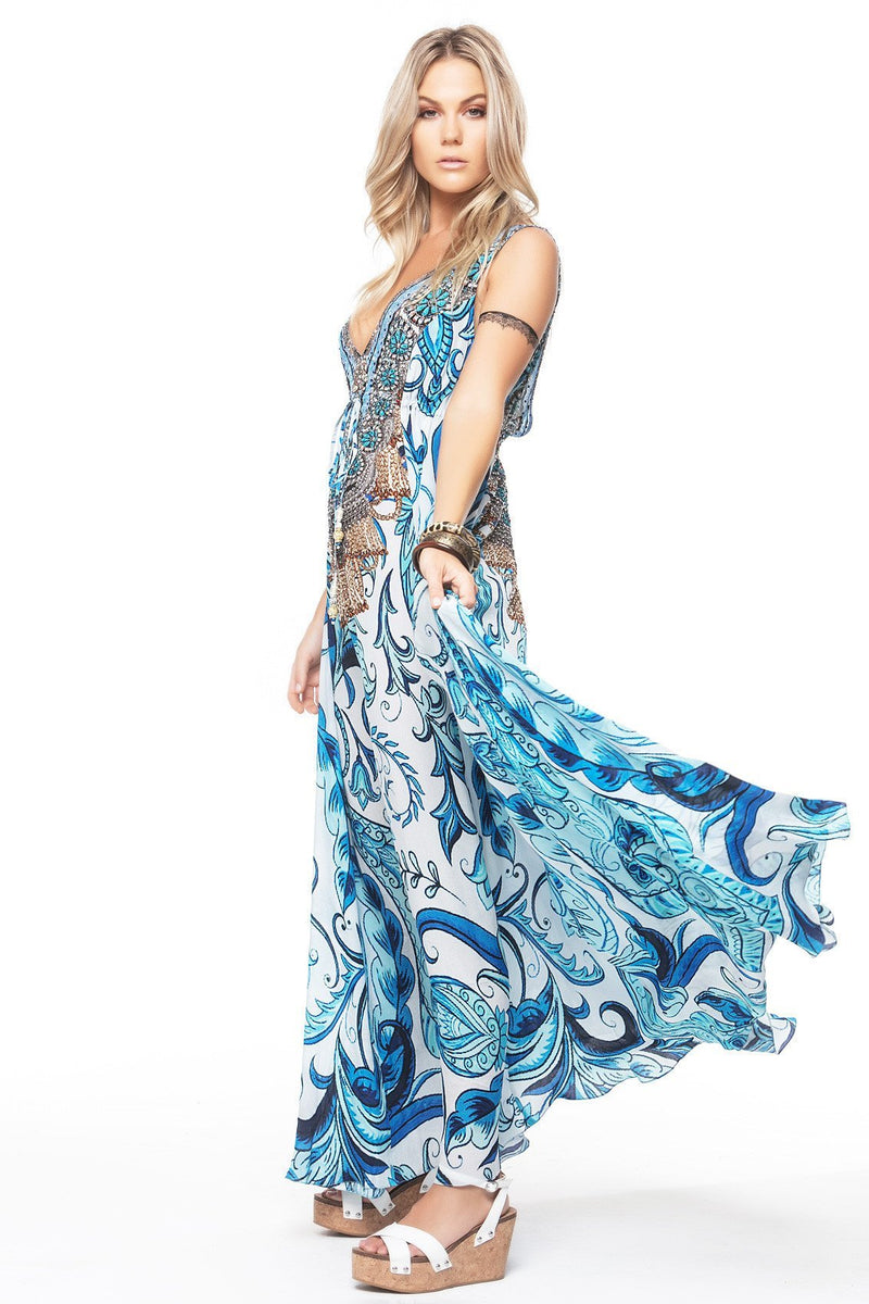 MEDITERRANEAN MAXI DRESS - Czarina